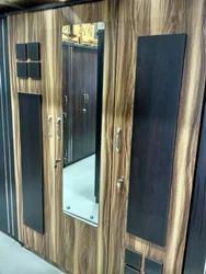 Wooden Mirror Wardrobe