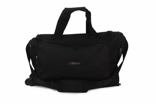1b35378824fa Nylon Black Travel Bag With Trolley
