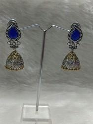 Fancy Oxidized Earring