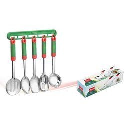 Plastic Handle Serving Spoon Set