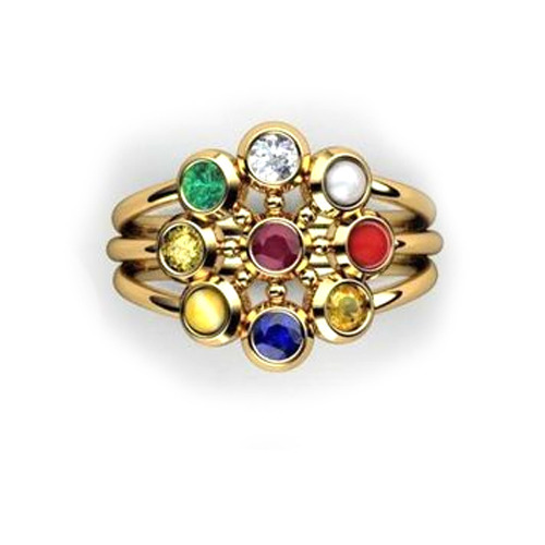 Designer Navaratna Ring Gents Navaratna Ring Manufacturer from Surat