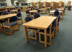 Library Study Table And Chairs