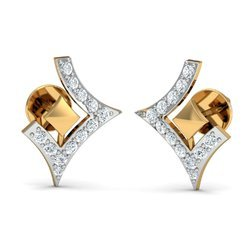 14k Gold Diamonds Earrings