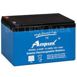 Amptek Electric Bike Dry Charged Battery, Capacity: 14 Ah