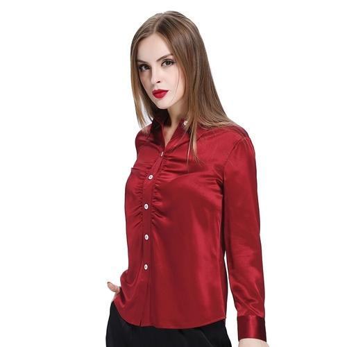 8cd0805aab0332 Women Silk Shirt at Rs 300  piece