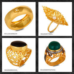 Gold Plated Jewelry Brass Fashion Rings