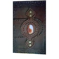 Embossed Stone Leather Folders