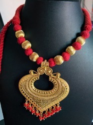 Gold Polished Thread Necklace