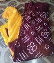 Cotton Satin Bandhani Dress Material