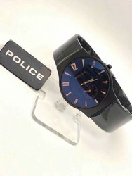 Black Round Shappire Chain Watch