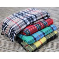 Capital Brown Tartan Wool Mix Blanket, Packaging Type: Packet