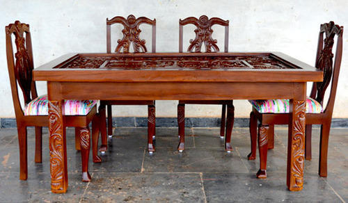 Carved Dining Table Set