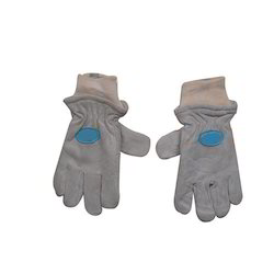 Grey Split Leather Freezer Gloves