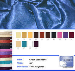 Crushed Satin Curtain Fabric