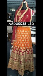 Chanderi & Georgette All Bridal Lehenga Choli