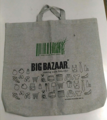 100% cotton grocery bag