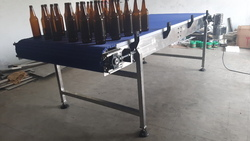 Modular Belt Conveyor For Glass Bottles Conveing