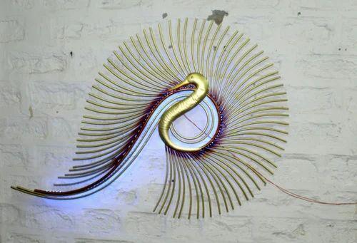 AWESOME LED Peacock Wall Decor Metal Wall Art
