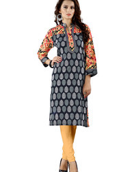 Machine Wash Ladies Printed Cotton Kurti