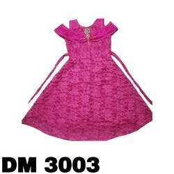 Party Wear Pink Baby Girl Designer Frock