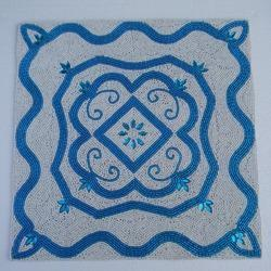 Blue Beaded Placemat