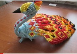 How to make 3d origami peacock - YouTube | 177x250