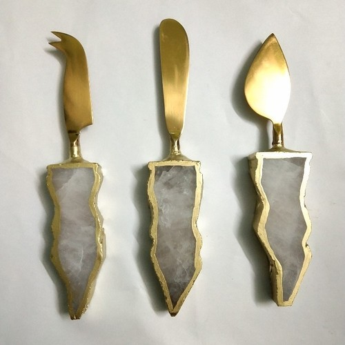Rose Quartz Cutlery Knifes