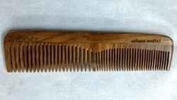 Sisam Wood Ornate Pocket Comb