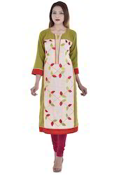 Long Straight Printed Kurti