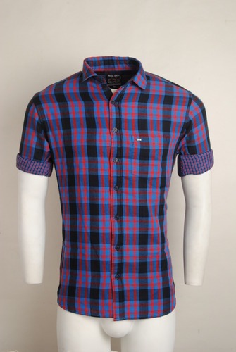 6a00dcdc7 Cotton Purple Checked Urban Design Casual Shirts, Rs 795 /piece | ID ...