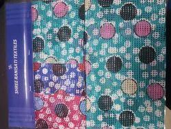 Square Net Printed & Plain Fabric