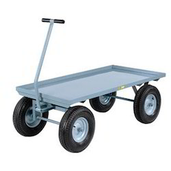 PLATFORM TROLLEY WITH PNEUMATIC WHEELS
