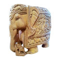 Sandalwood Carving Figures Elephant
