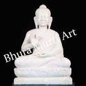 White Marble Lord Buddha Statue