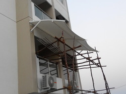 Tensile Roof Structures for Balcony