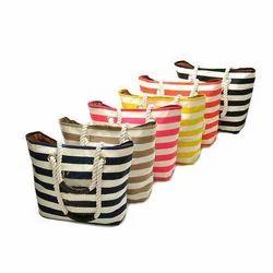 Striped Beach Bags