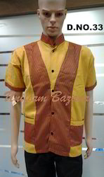 Restaurant Uniform In Yellow Colour