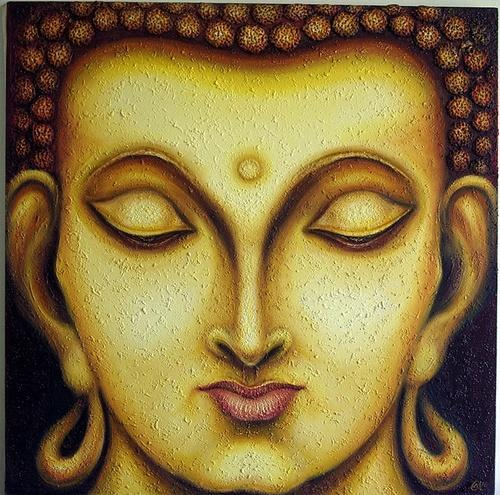 Gautam Buddhas Face 4 Paintings at Rs 19000 /piece | Gautam Buddha ...