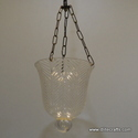 Clear Cut Glass Hanging Lamp