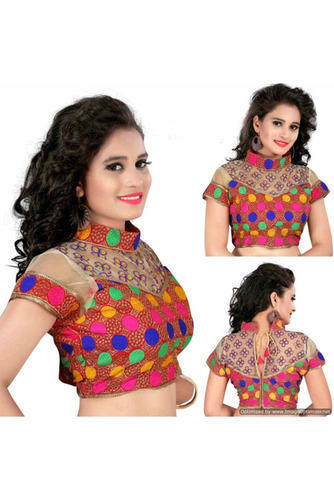 8667c73714726 Stitched Multicolor Stylish Designer Party Wear Fancy Fabric Blouse ...