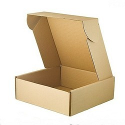 Multi-Purpose Foldable Rectangular Brown Carton Box