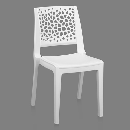 Nexus Milky White Cafeteria Chair