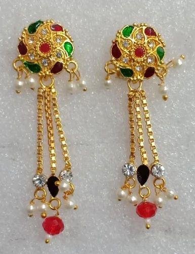 Sui Dhaga Earring Kundan Neclace Set Manufacturer From Jaipur