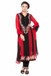 Designer Embroidery Party Wear Long Salwar Suit Kurti