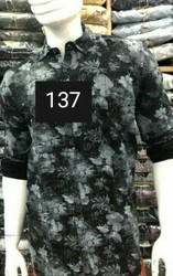 Black Cotton/Linen Republic Cotton Mens Casual Shirts
