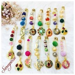 Handmade Beads Saree Pins