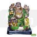Multicolor Resin Laughing Buddha Statues