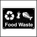 153622 Food Waste Dustbin Name Plate