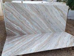 White, Beige Torranto Cross Marble Slab, Usage: Kitchen Top, Countertop