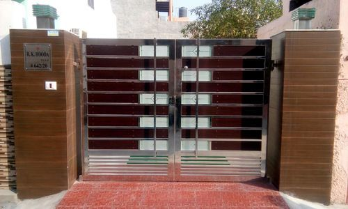 Manufacturer Of Steel Gate Modern Home Gate By Baba Steel And